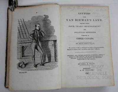 Image for Letters from Van Dieman's Land: written during four years imprisonment for political offences in Upper Canada...  By Mrs B. Wait.