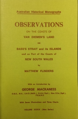 Image for Observations on the Coasts of Van Diemen's Land, on Bass's Strait and its islands, and on part of the coasts of New South Wales.