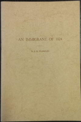 Image for An Immigrant of 1824.