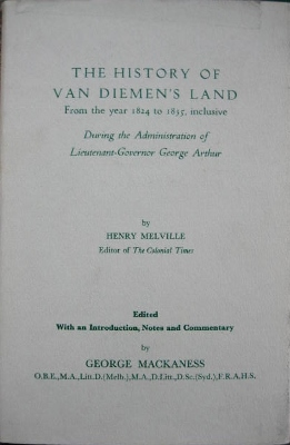 Image for The History of Van Diemen's Land from the year 1824 to 1835 inclusive to which is added a few words on prison discipline.