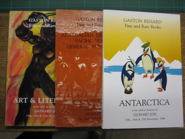 Image for Gaston Renard. Fine and Rare Books. Major Collections of Antarctica / Australian Exploration and General Australiana / Australian Art Reference, Illustrated Books and Literature, including Children's Books.