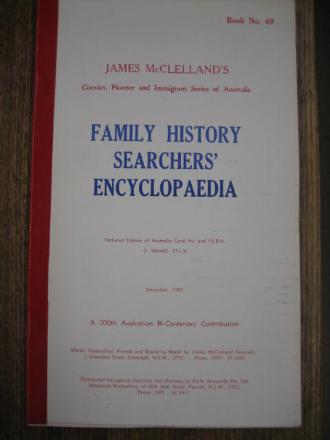 Image for Family History Searchers' Encyclopedia.