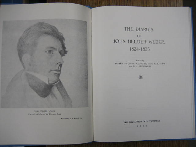 Image for The Diaries of John Helder Wedge.