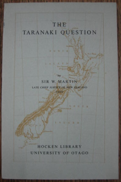 Image for The Taranaki Question.