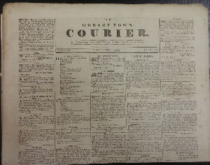 Image for Hobart Town Courier. This Journal contains every Official Notice in the Hobart Town Gazette of this day. [Eight individual issues from 1833]