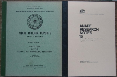 Image for Gazetteer of the Australian Antarctic Territory - two issues, 1965 & 1983.