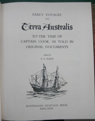 Image for Early Voyages to Terra Australis to the time of Captain Cook as told in original documents.