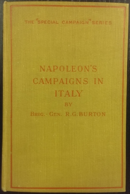 Image for Napoleon's Campaigns in Italy 1796-1797 and 1800.