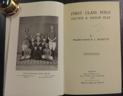 Image for First Class Polo : tactics & match play.
