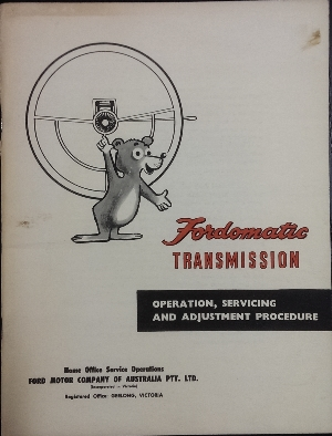 Image for Fordomatic Transmission : operation, servicing and adjustment procedure.