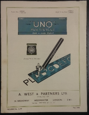 Image for Uno Pen Stencils : Technical List no 146.