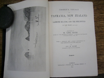 Image for Crozet's Voyage to Tasmania, New Zealand, and the Ladrone Islands, and the Philippines, in the years 1771-1772.  With a Preface and Brief Reference to the Literature of New Zealand by Jas. R. Boosé, Librarian of the Colonial Institute.  Illustrated.