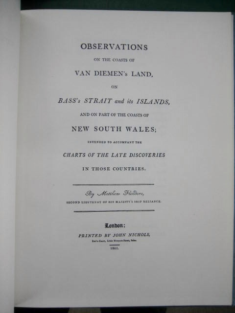 Image for Observations on the Coasts of Van Diemen's Land, on Bass's Strait and its islands, and on part of the coasts of New South Wales; intended to accompany the charts of the late discoveries in those countries.